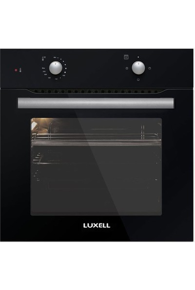 Luxell 3lü Ankastre Set Siyah (A6-S2 Fırın + LX-410 BF Ocak + DP6 S Davlumbaz)