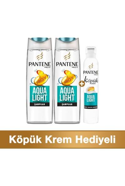 Pantene Fırsat Paketi Aqualight 2 x 470 ml Şampuan + 180 ml Köpük Saç Bakım Kremi