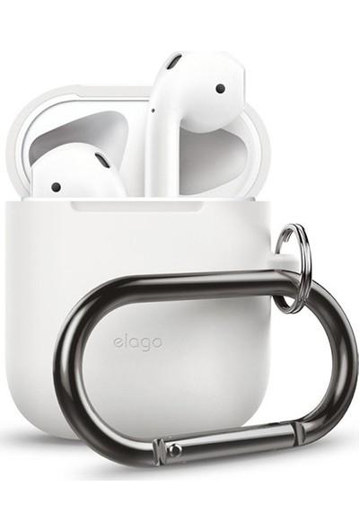 Elago Apple Airpods Askılı Silikon Kılıf Hang Case - Beyaz