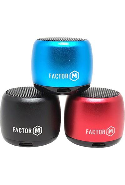 Factor-M Mini Kablosuz Hoparlör - Kırmızı FM-HPKR