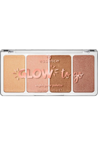 Essence Glow To Go Highlighter Palette - Aydınlatıcı Palet No:10 14 gr