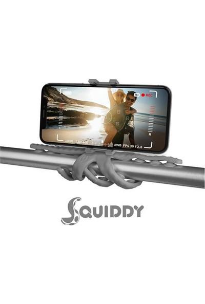 Celly Squiddy Esnek Mini Tripod Universal Telefon Tutucu - Gri