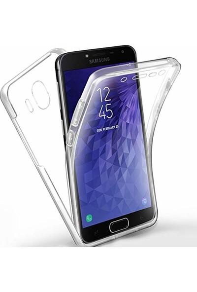 Case 4U Samsung Galaxy J4 2018 Kılıf Ön Arka Şeffaf Silikon Koruma