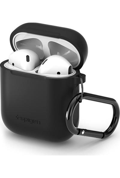 Spigen Apple AirPods 2/1 Nesil Uyumlu Kılıf Silicone Fit (Silikon) Black - 066CS24808