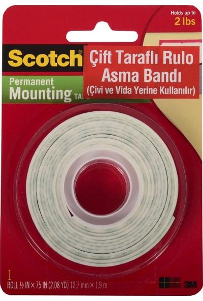 Scotch® Çift Taraflı Köpük Bant 12,7mm x 1,9m