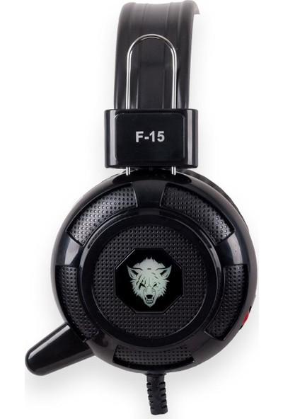 Yoro Yr-F15-B Mikrofonlu Işıklı Gaming Kulaklık Siyah