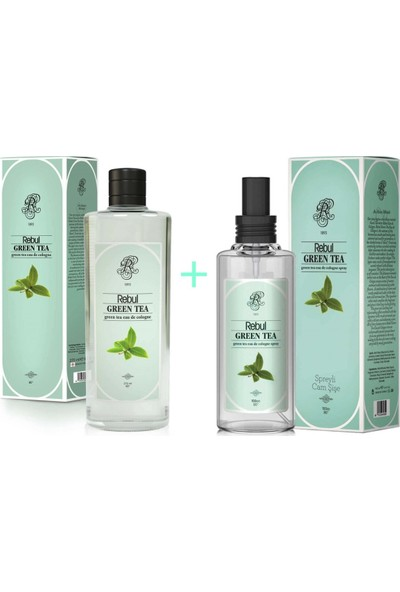 Rebul green Tea Kolonya 270 ml + Rebul green Tea Kolonya 100 ml