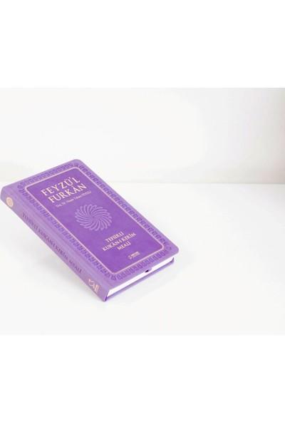 Feyzü'l Furkan Tefsirli Kur'an-ı Kerim Meali - Cep Boy - Ciltli - Lila