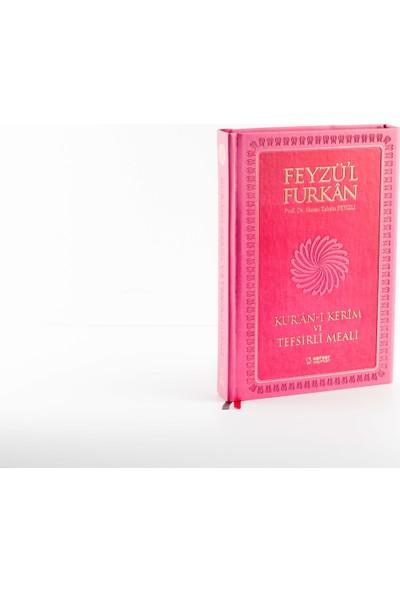 Feyzü'l Furkan Kur'an-ı Kerim ve Tefsirli Meali - Büyük Boy - Mushaf ve Meal - Pembe