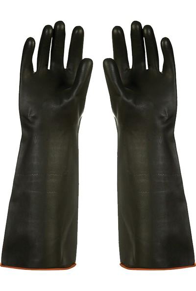 Faba H1-45 Siyah Asit Eldiveni 45 cm Düz