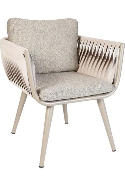 Garden Modern Ahtapot Aluminyum Gövdeli Örgü Sandalye