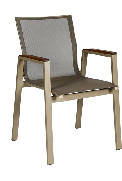 Garden Modern Breve Alüminyum Gövdeli Örgü Sandalye