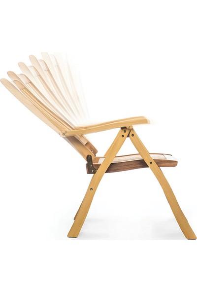 Garden Modern Crown Kademeli Kolçaklı İroko Sandalye