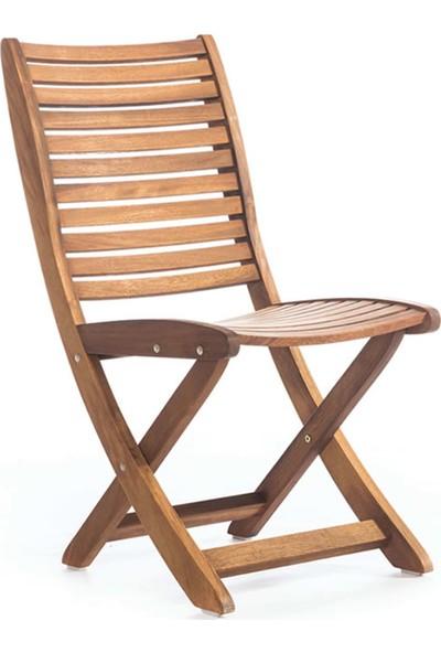 Garden Modern Fine Kolçaksız Katlanır İroko Sandalye