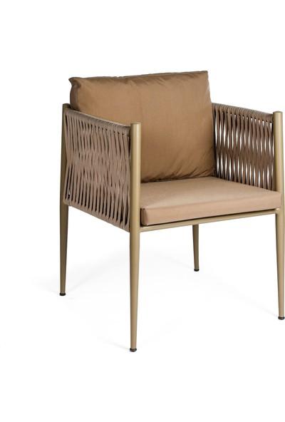 Garden Modern Kule Aluminyum Gövdeli Örgü Sandalye