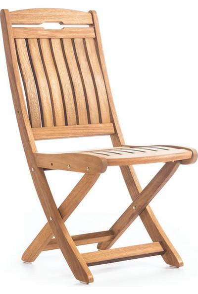 Garden Modern Mia S Kolçaksız Katlanır İroko Sandalye