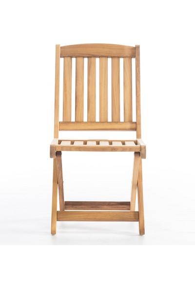 Garden Modern Star Kolçaksız Katlanır İroko Sandalye