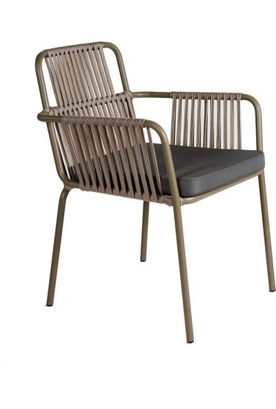 Garden Modern Yankı Alüminyum İskeletli Örgü Sandalye