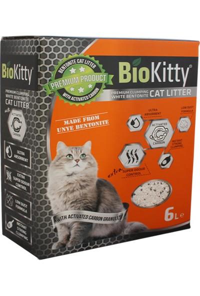 BioKitty Bentonit İnce Taneli Aktif Karbonlu Kedi Kumu 6 lt