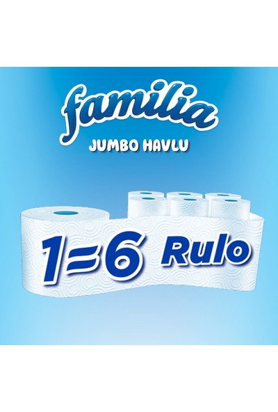 Familia Jumbo Havlu 6 Rulo
