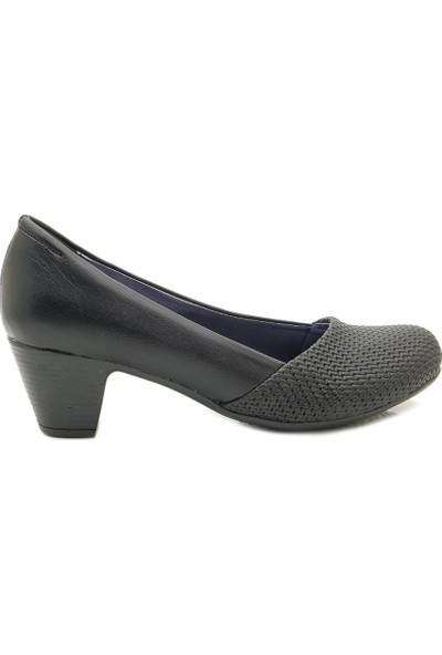 Fantasy 8001 Alçak Kare Topuk Klasik Kadın Ayakkabı