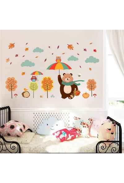 Zooyoo Sevimli Orman Hayvanları Duvar Sticker