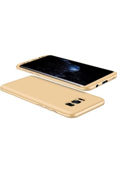 Jopus Samsung Galaxy Note 8 Kılıf 3 Parça 360 Tam Koruma Ays Kapak - Gold