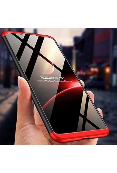 Jopus Samsung Galaxy J7 Pro Kılıf 3 Parça 360 Tam Koruma Ays Kapak - Gold + Nano Ekran Koruyucu