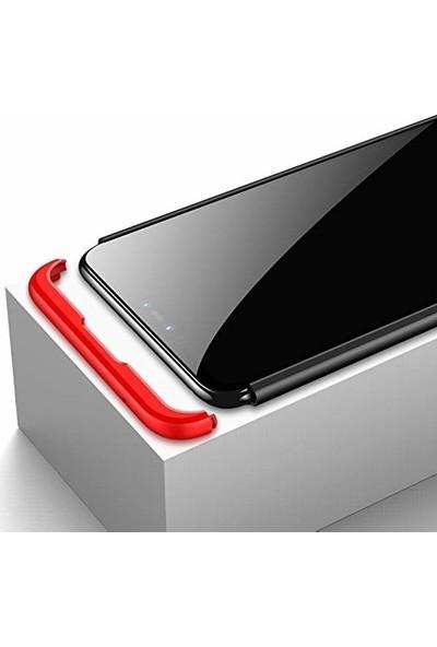 Jopus Samsung Galaxy A9 2018 Kılıf 3 Parça 360 Tam Koruma Ays Kapak - Rose + 5D Tam Ekran Koruyucu