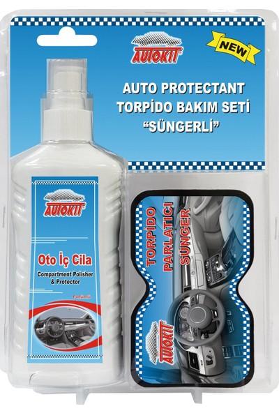 Autokit Torpido Bakım Seti (Oto İç Cİila Parfümlü Ve Torpido Parlatıcı Sünger)