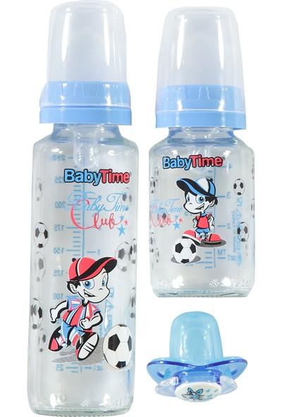 Baby Time 3lü Cam Biberon Seti Mavi