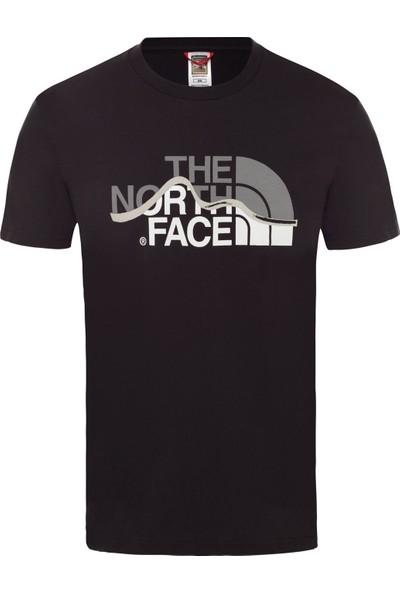 The North Face M S/S Mountain Line Tee Erkek T-Shirt Siyah