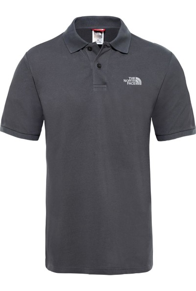 The North Face Polo Yaka Erkek T-Shirt Gri