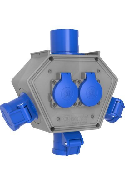 Bemis Polybox Cee Norm 3/16A. 3 Ad. + 1/16A. 2 Ad. + 3/32A. Fişli