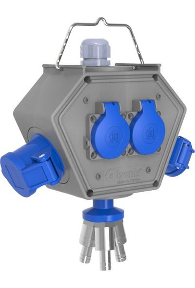 Bemis Polybox Cee Norm 3/16A. 2 Ad. + 1/16A. 2Ad. 3 Hava Çıkışlı