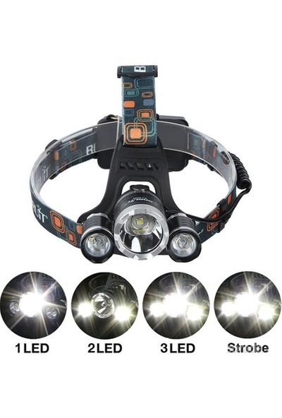 CSI Boruit 5W 3X T6 Cree Led 1200 Lumens Profosyonel Şarjlı Kafa Feneri