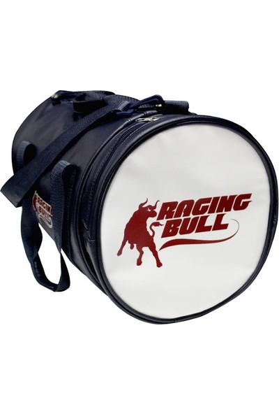 Raging Bull Silindir Suni Deri Spor Çanta Lacivert 34Cmx26Cm