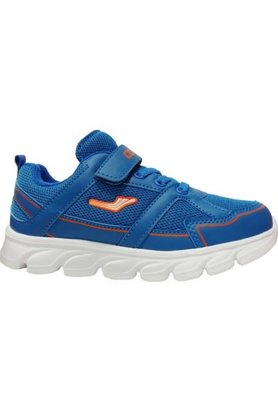 Cool 502 Saks Mavi Turuncu Cırtlı Çocuk Spor Ayakkabı
