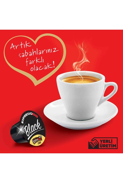 ESPRESSOMM Black Kapsül Kahve (100 Adet) - Nespresso Uyumlu