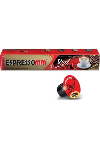 ESPRESSOMM Red Kapsül Kahve (100 Adet) - Nespresso Uyumlu