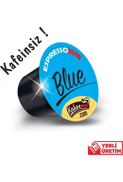ESPRESSOMM Blue Kapsül Kahve-Kafeinsiz! (100 Adet) - Nespresso Uyumlu