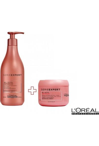Loreal Serie Expert Inforcer Zayıf Saçlar İçin Kırılma Karşıtı Şampuan 500ml ve MASKE 75ml
