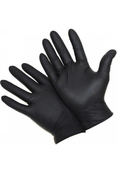 Has-Pet Pudrasız Siyah Nitril Eldiven (M) (50 Adet)