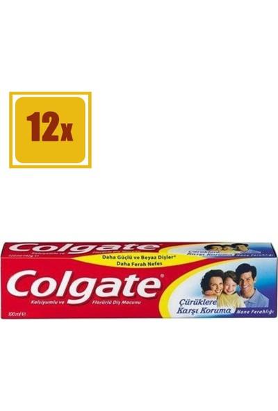 Colgate Diş Macunu Çürüklere Karşı Koruma 100 ml 12'li Set