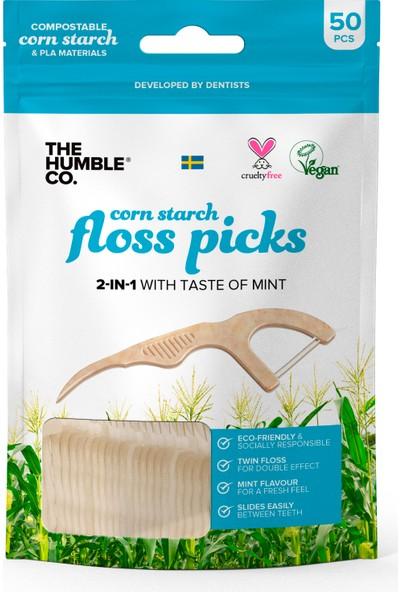 Humble Organik- İpli Diş Kürdanı -Beyaz