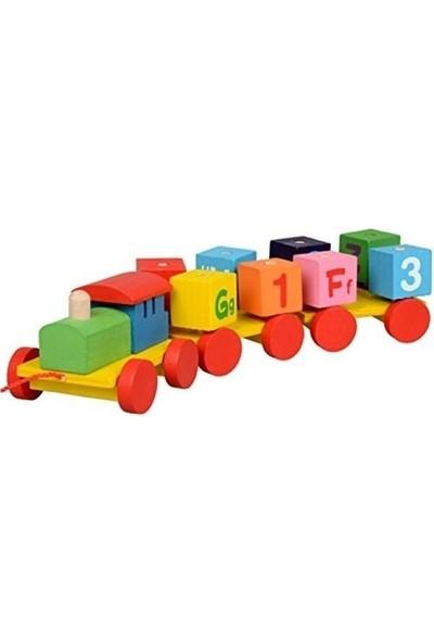To Moon Toys Eğitici Ahşap Tren Bebek Oyuncağı