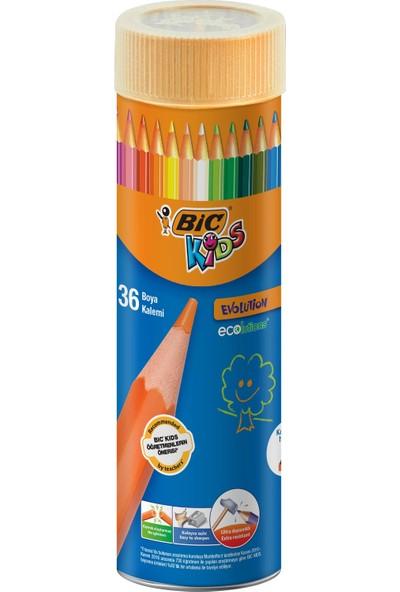 Bic Kids Evolution Kuru Boya Kalemi 36'Lı Metal Tüp