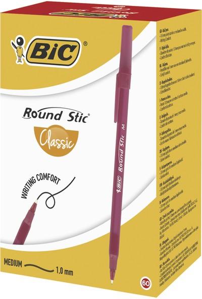 Bic Round Stic Tükenmez Kalem Kırmızı 60'Lı Kutu
