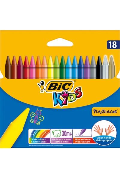 Bic Kids Plastidecor Elleri Kirletmeyen Pastel Boya 18'Li Kutu