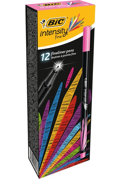 Bic Intensity Fine Liner Keçe Uçlu Kalem Pembe 12'Li Kutu
